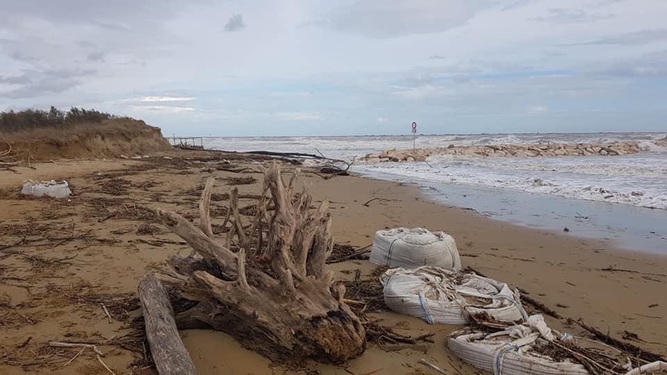 Spiaggia Jesolo dopo maltempo